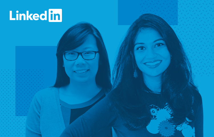LinkedIn UX designer profiles - Sheba Najmi and Kristin Yuen