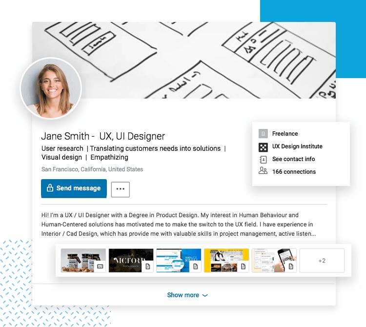 LinkedIn UX designer profiles - Topcard