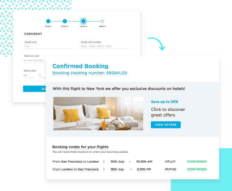 prototyping forms with the success landing page