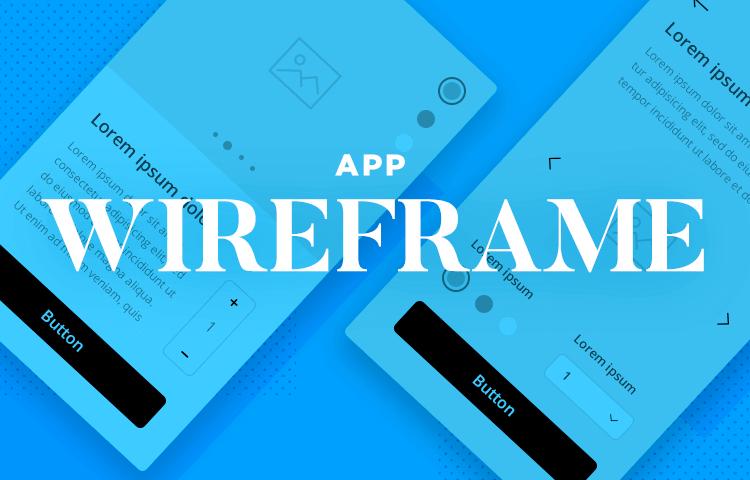 app wireframe design