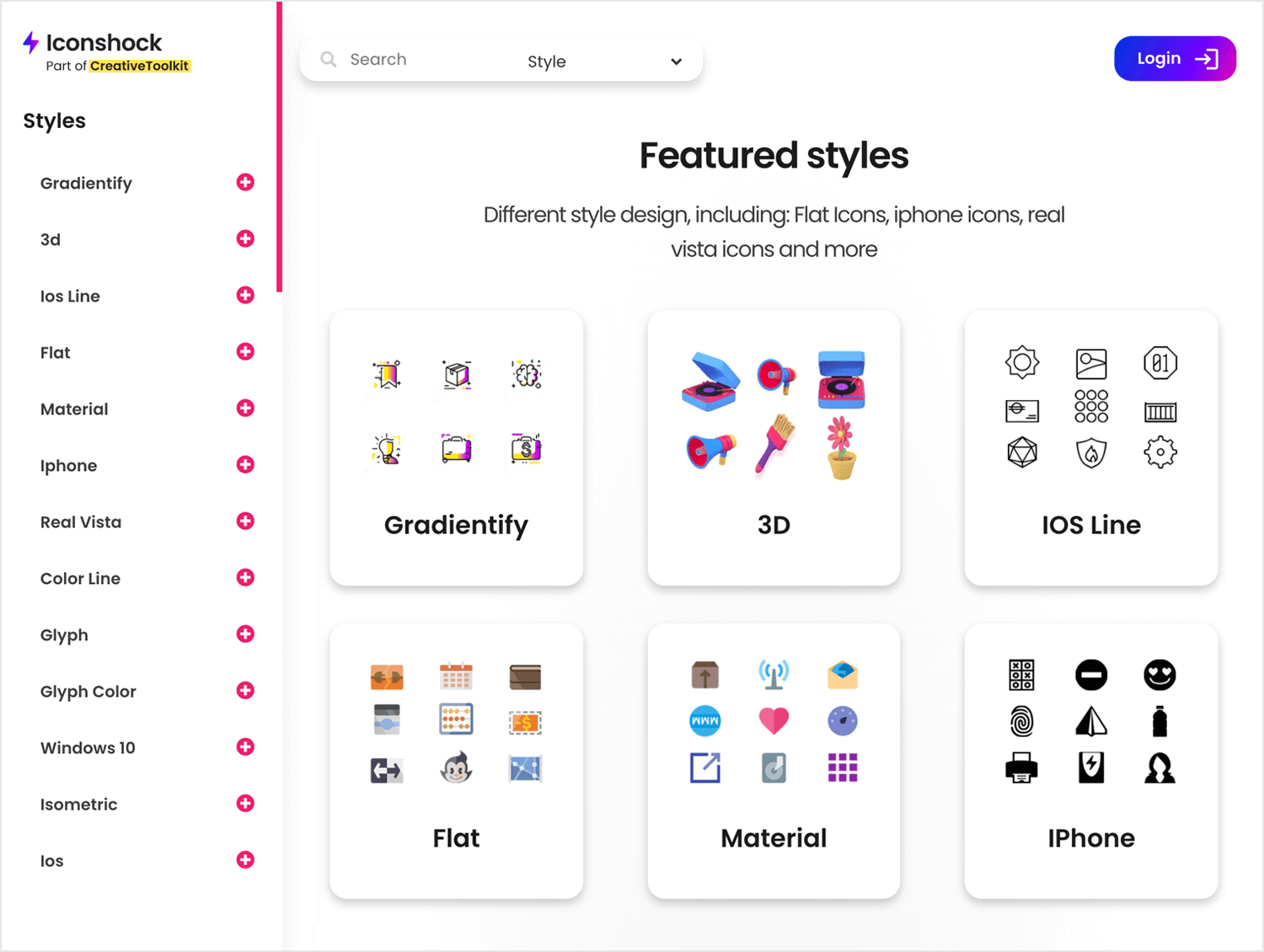 design blog with free icons