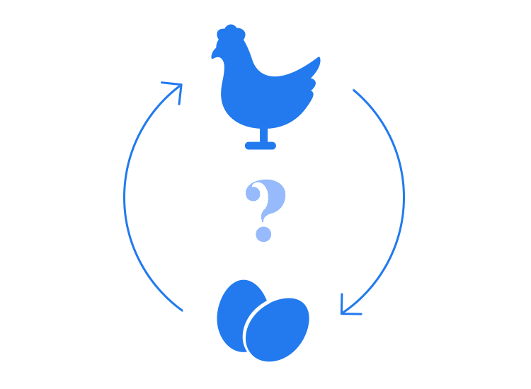 What came first - the chicken or the egg? Content or design?