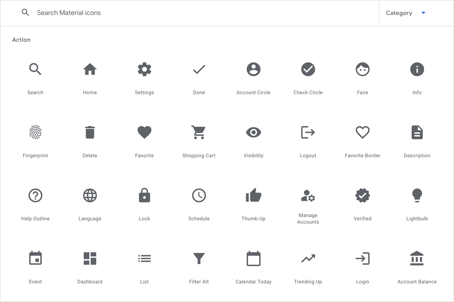 Free app icons to download - Material Design