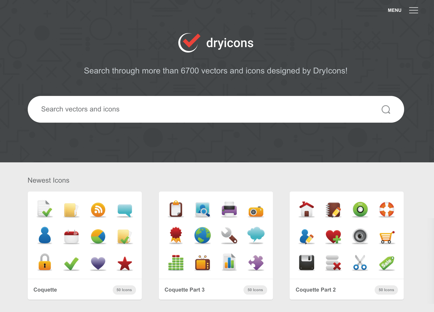 free design database for icons