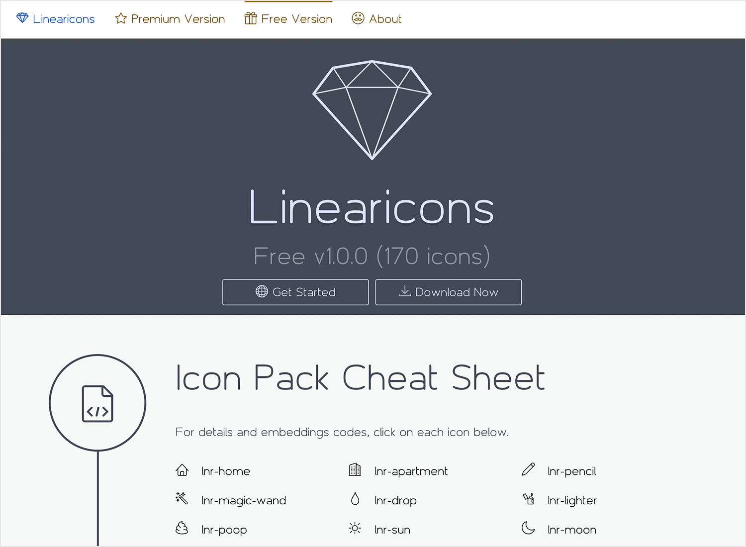 Free website icons to download - Linearicons