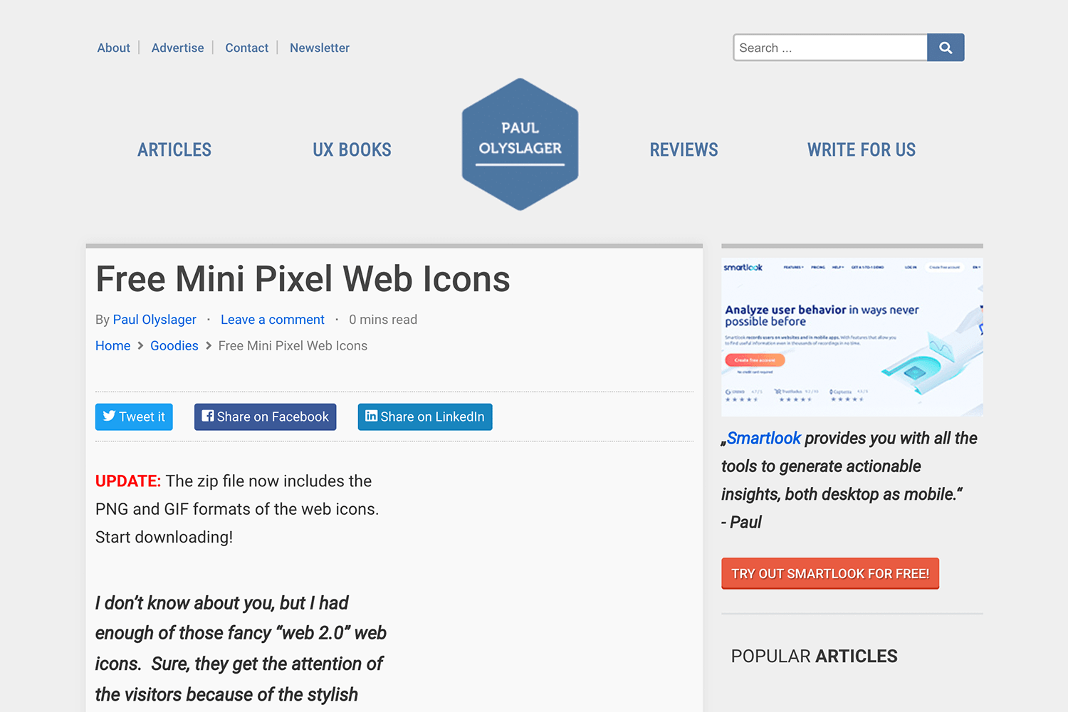 Free website icons to download - Paul Olyslager