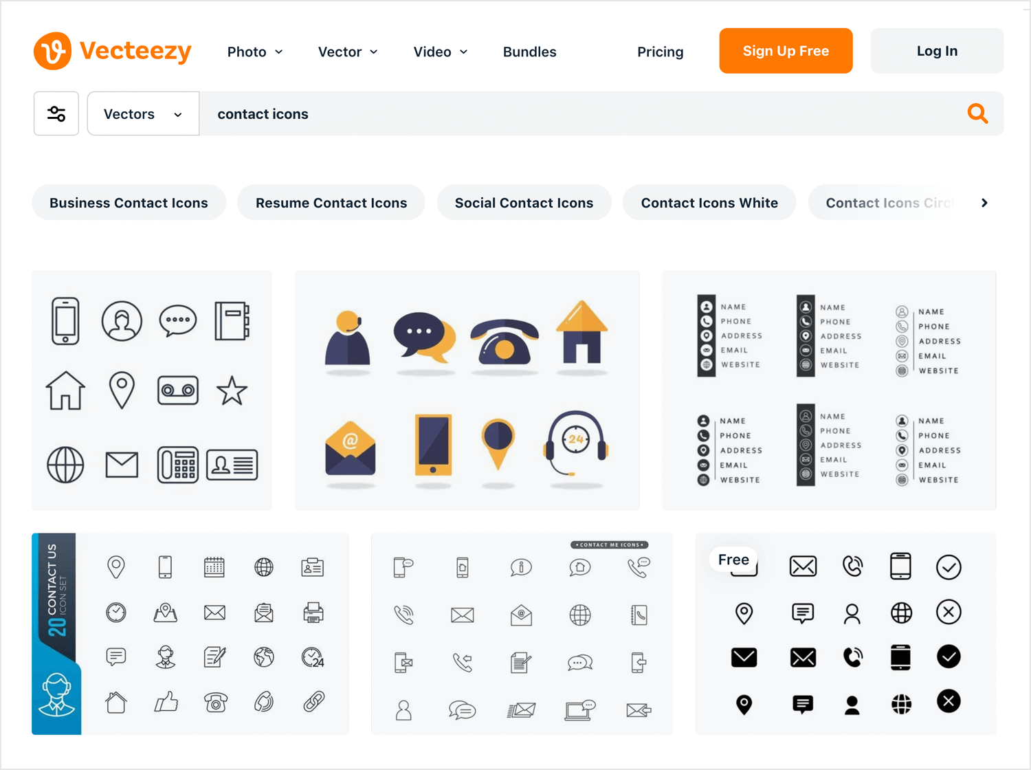 Free website icons to download - Vecteezy