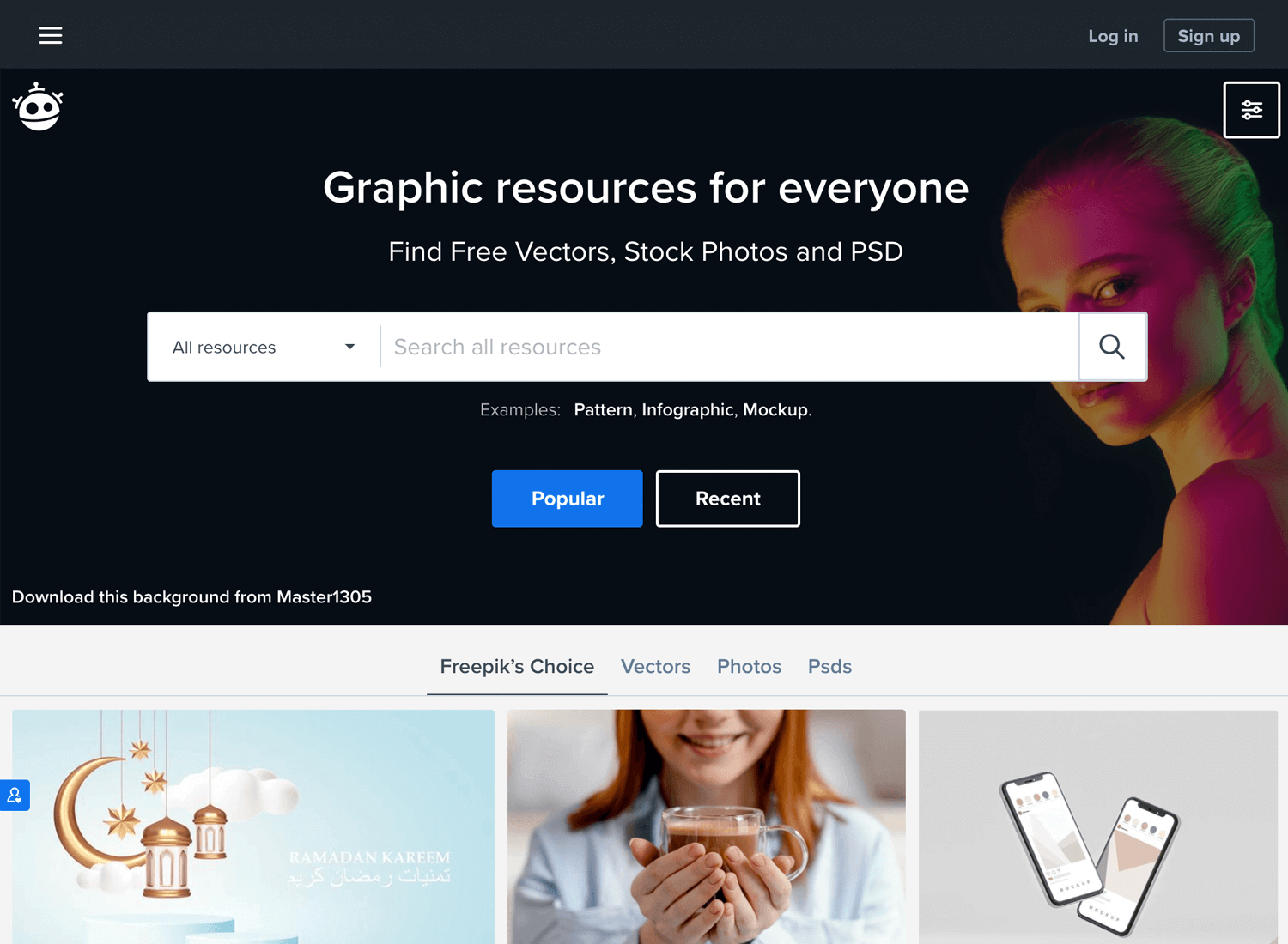 freepik as place for free resources
