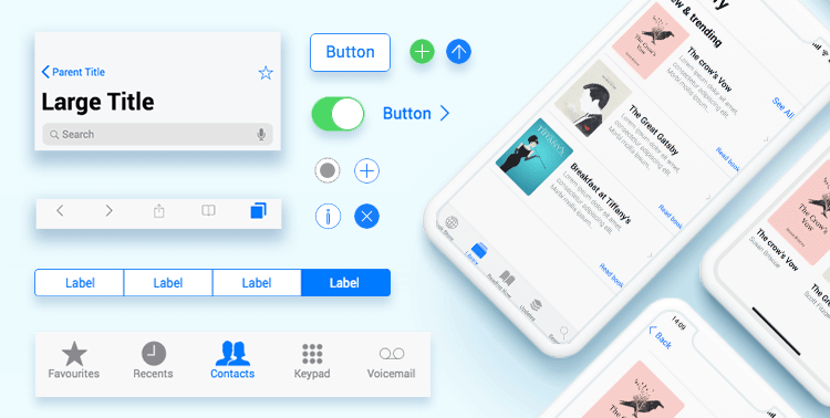 custom ios components for app wireframes