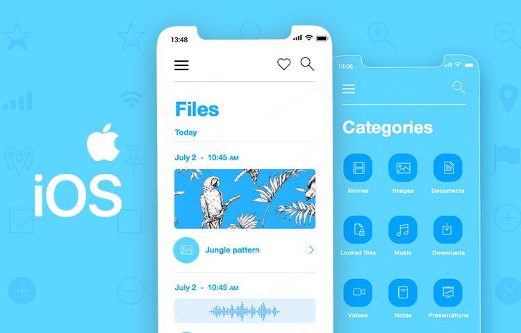 iOS Icons UI kit - for iOS UI design