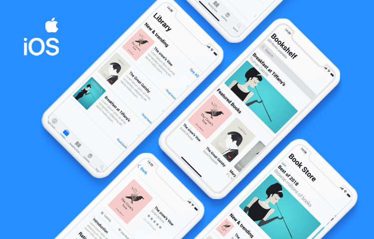 Justinmind's iOS UI kit - design high fidelity iOS prototypes for the iPhone and iPad