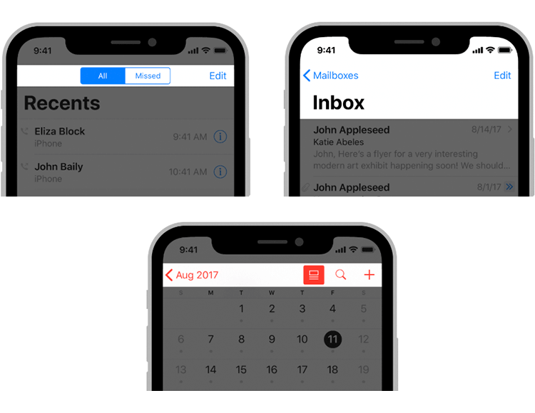 examples of navigation in ios app wireframes