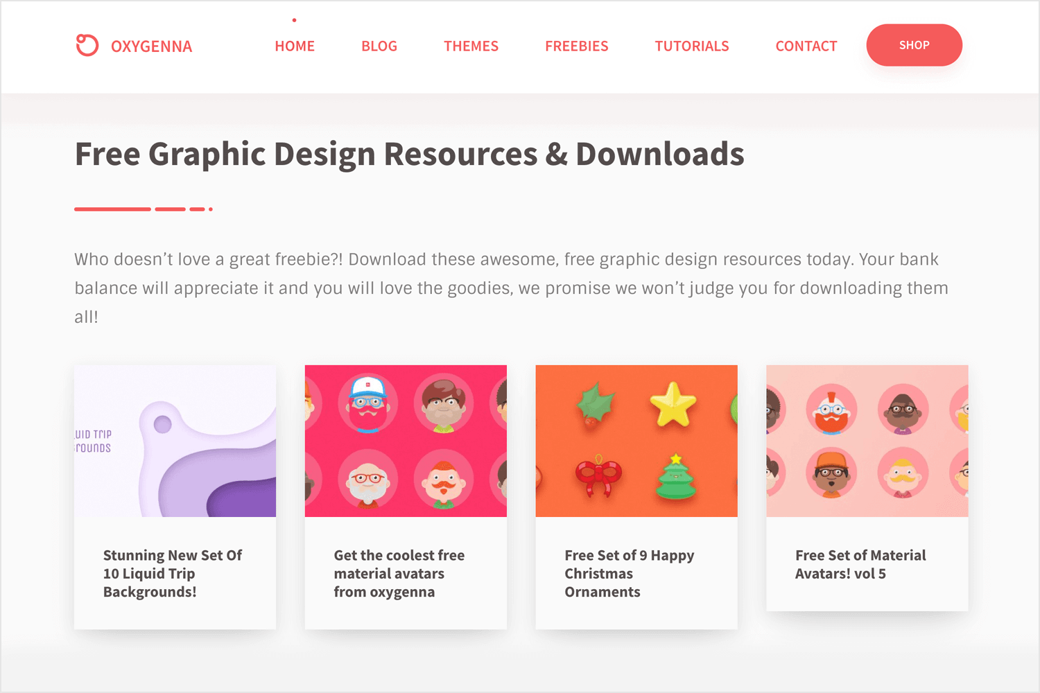 oxygenna for free design resources