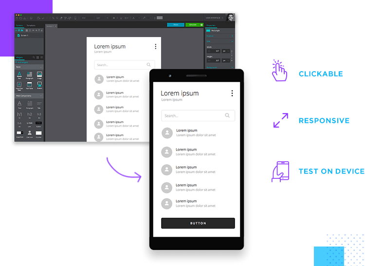 responsive app wireframe design