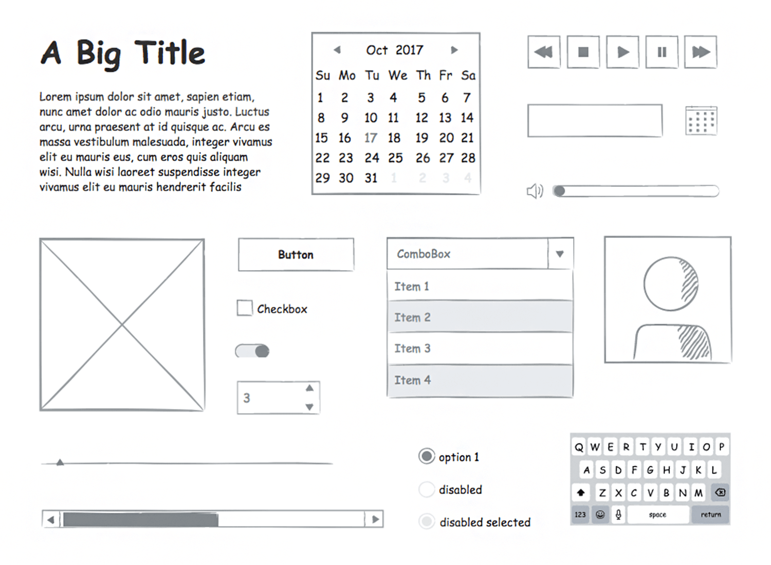 ui components for sketching wireframes