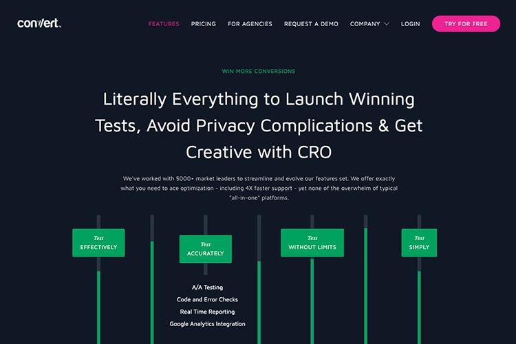 a/b testing tool: convert
