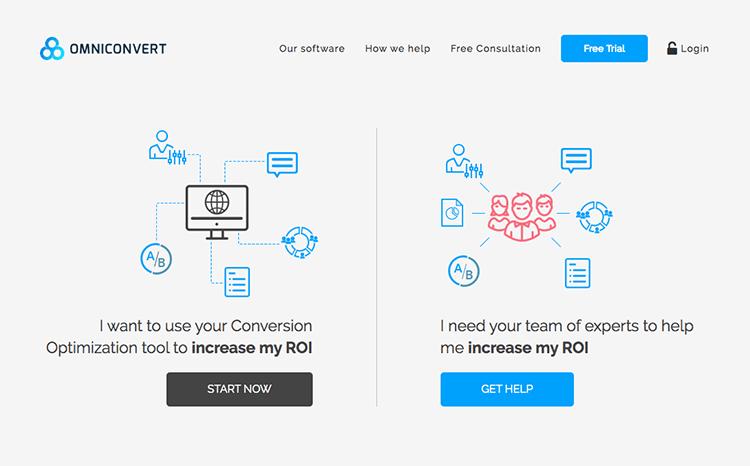 a/b testing tool: omniconvert
