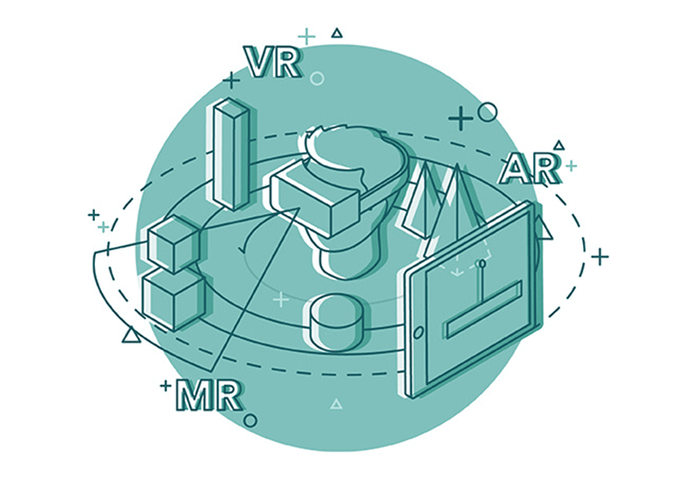 AR, MR and VR design principles - mixed reality is a cross between virtual and augmented reality