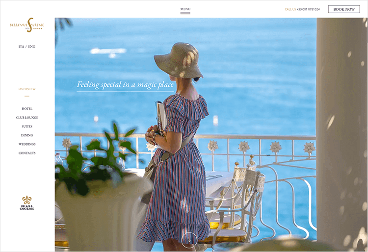 Hotel website design - Bellevue Syrene