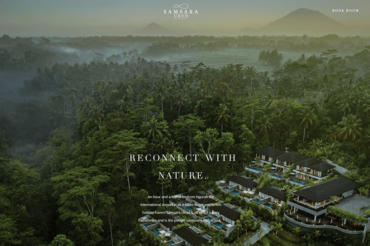 Hotel website design - Samsara Ubud