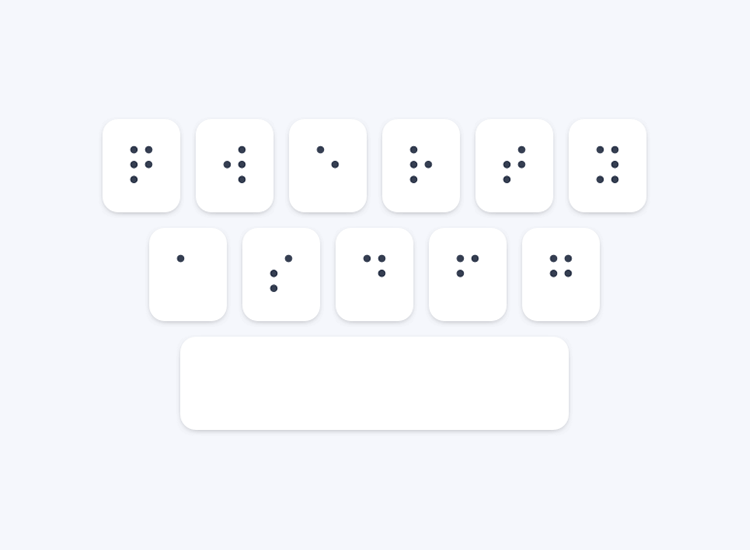 Accessibility testing for websites - refreshable braille output keyboard