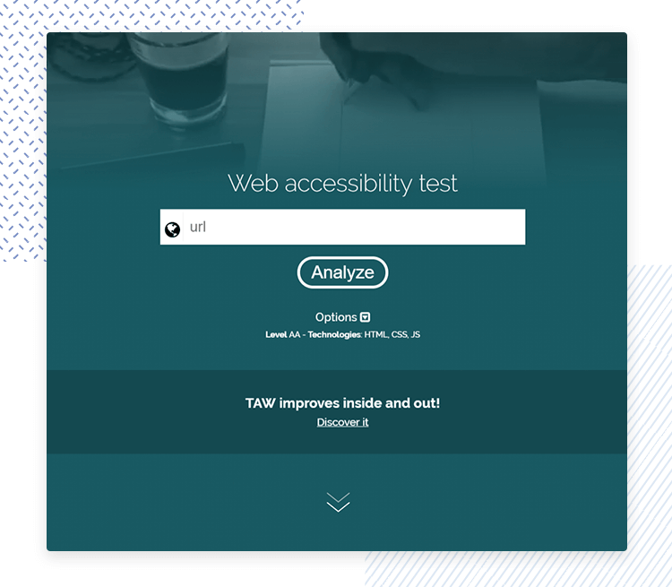 Accessibility testing for websites - TAW