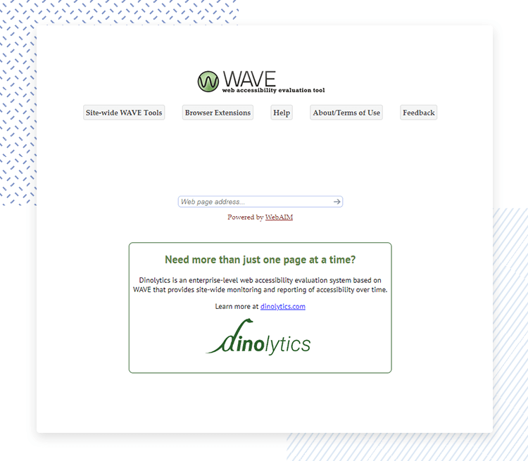Accessibility testing for websites - WAVE