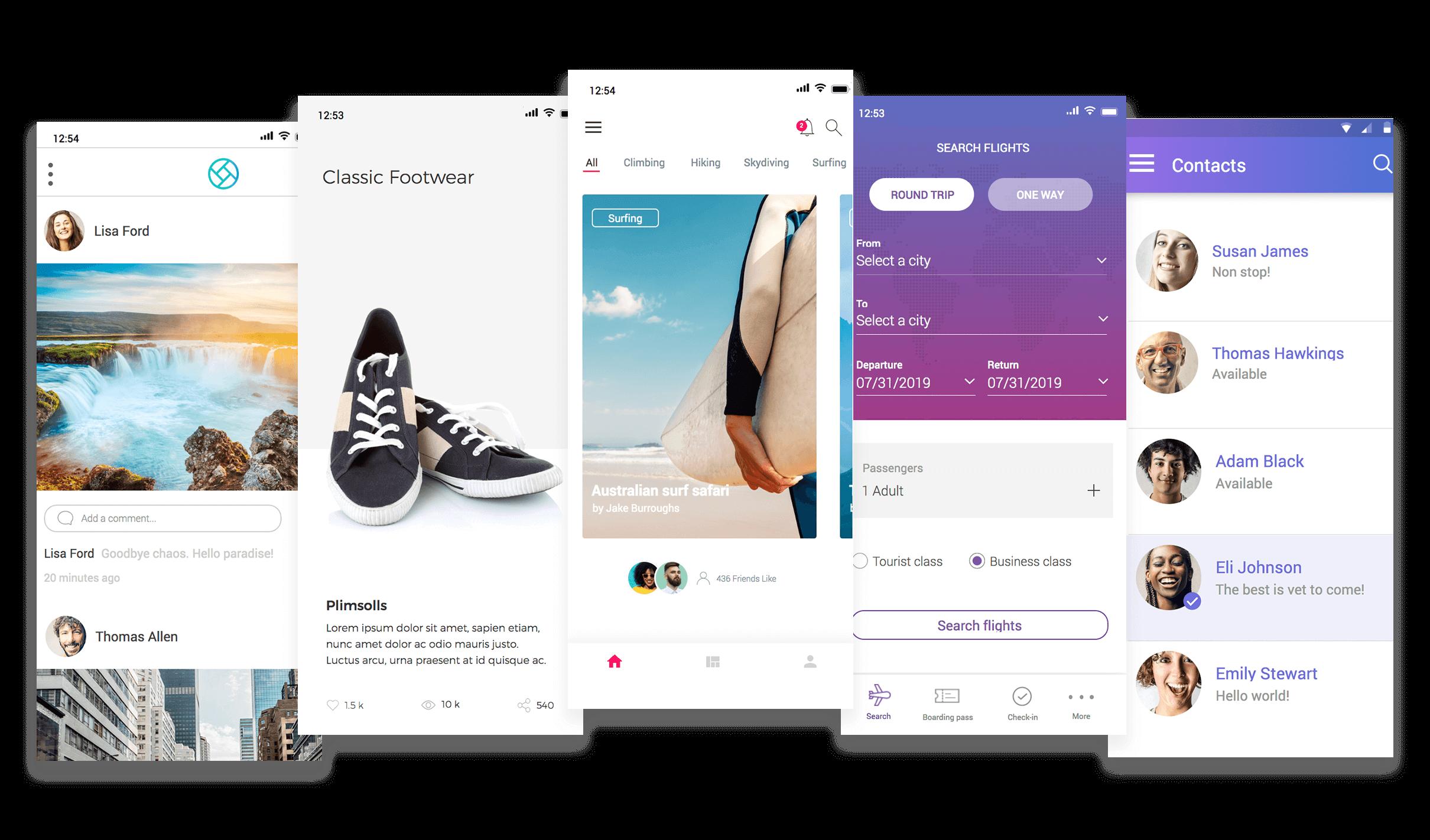 View app prototype examples