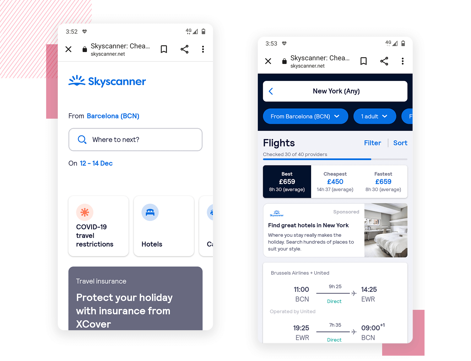 card-ui-design - Skyscanner: mobile
