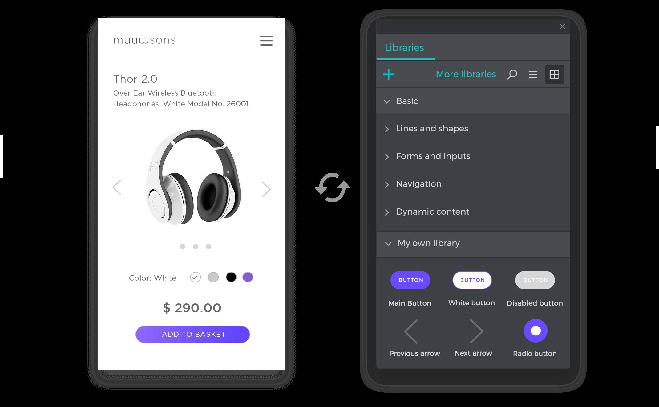 Team and synchronized UI kits