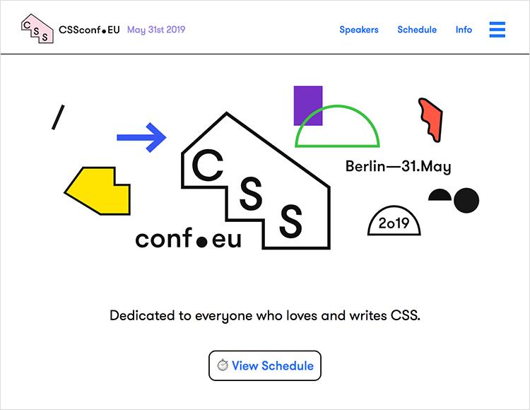 Flat website design - CSS Conf EU