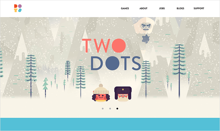 Flat website design - Dots