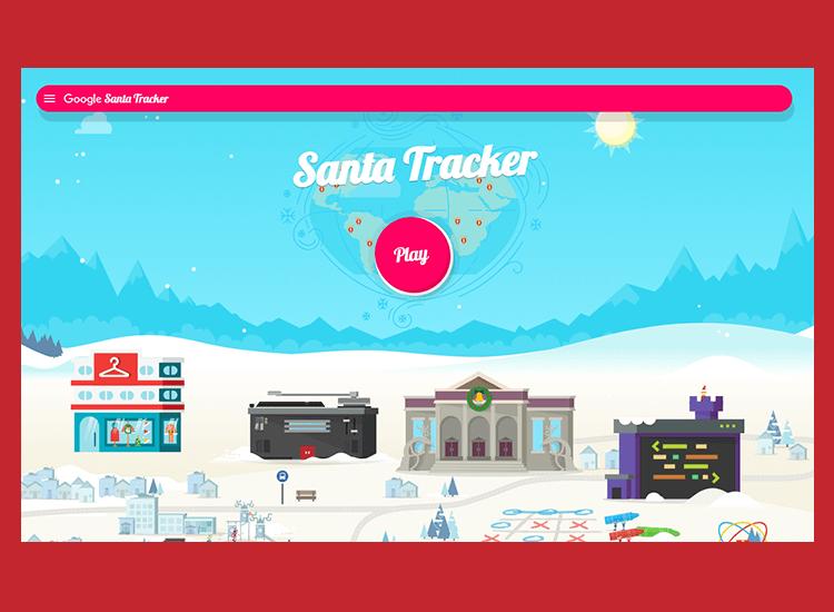 Flat website design - Santa Tracker