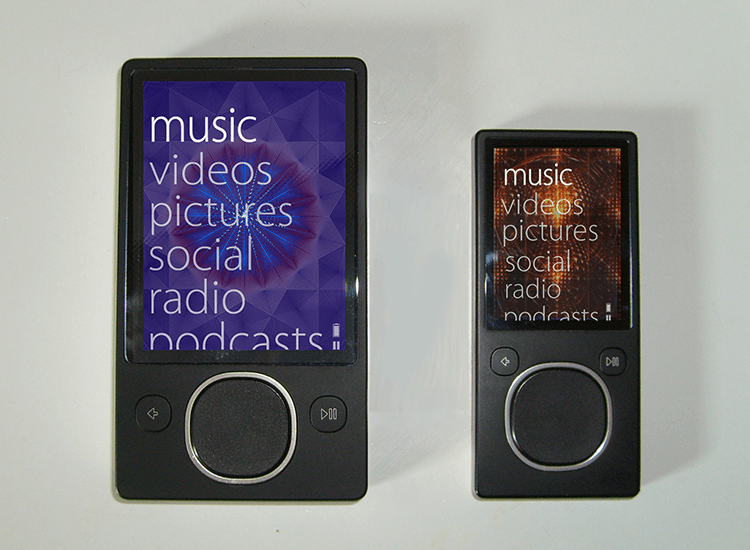 Flat website design - Microsoft's Zune MP3 player used flat UI design