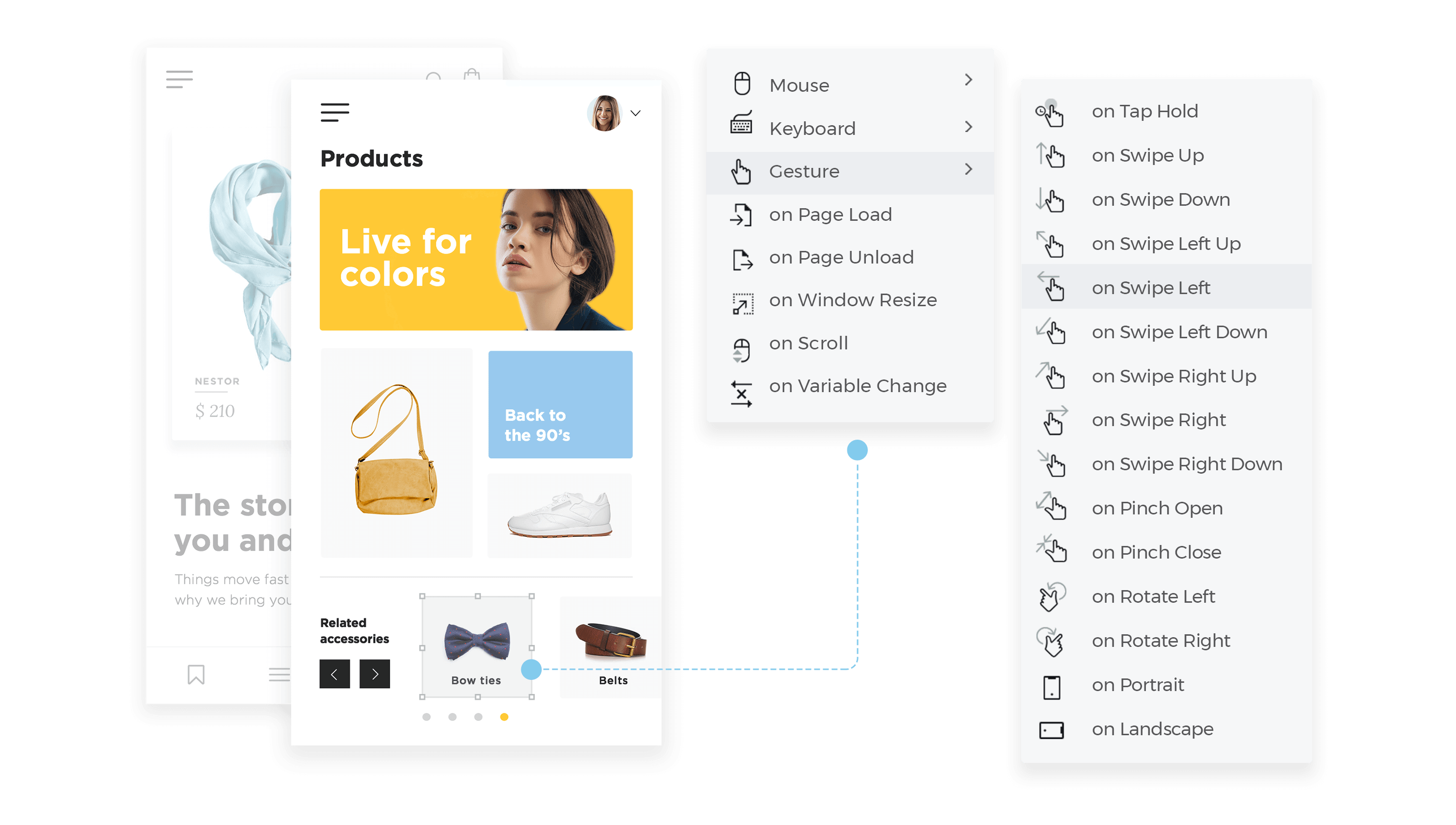 Add interaction to sketch elements with justinmind