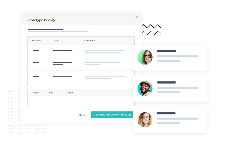 Team work on prototype