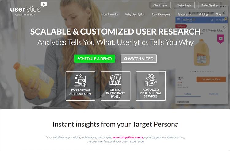userlytics usability testing tool