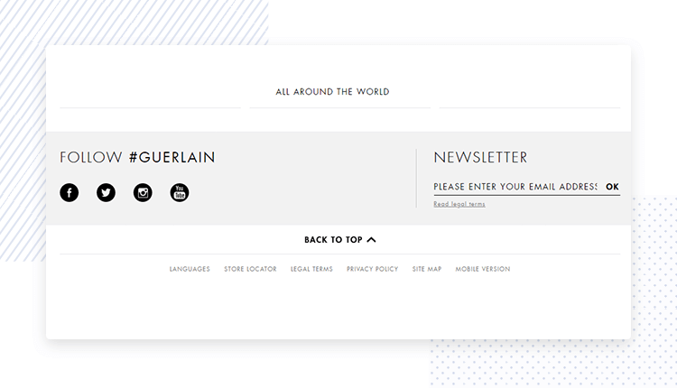 website-footer-design: Guerlain.com