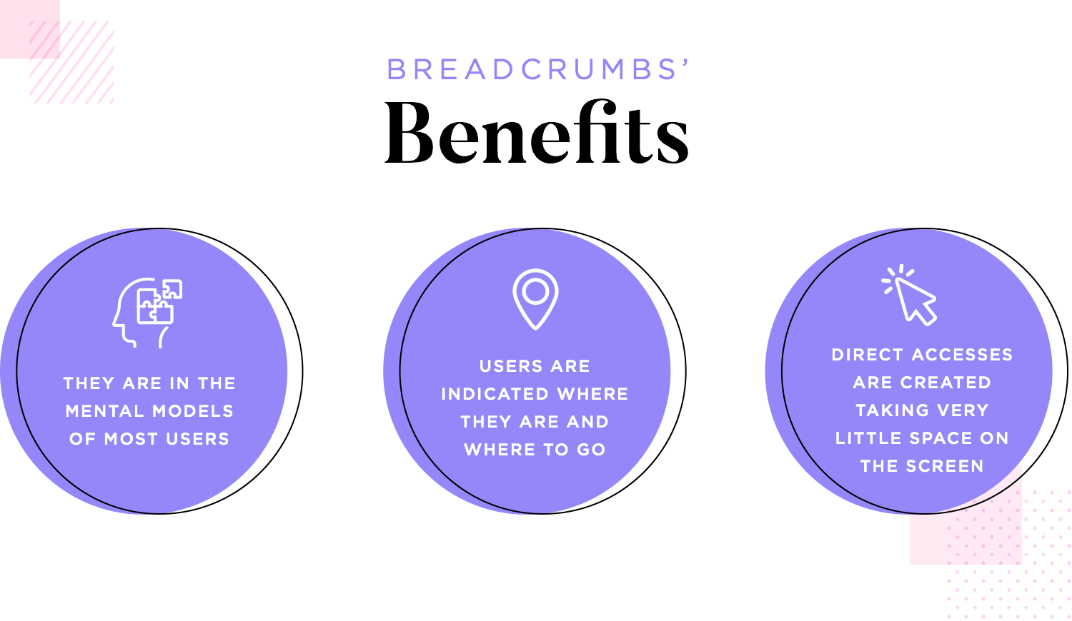 breadcrumbs as way to get users to navigate with less clicks