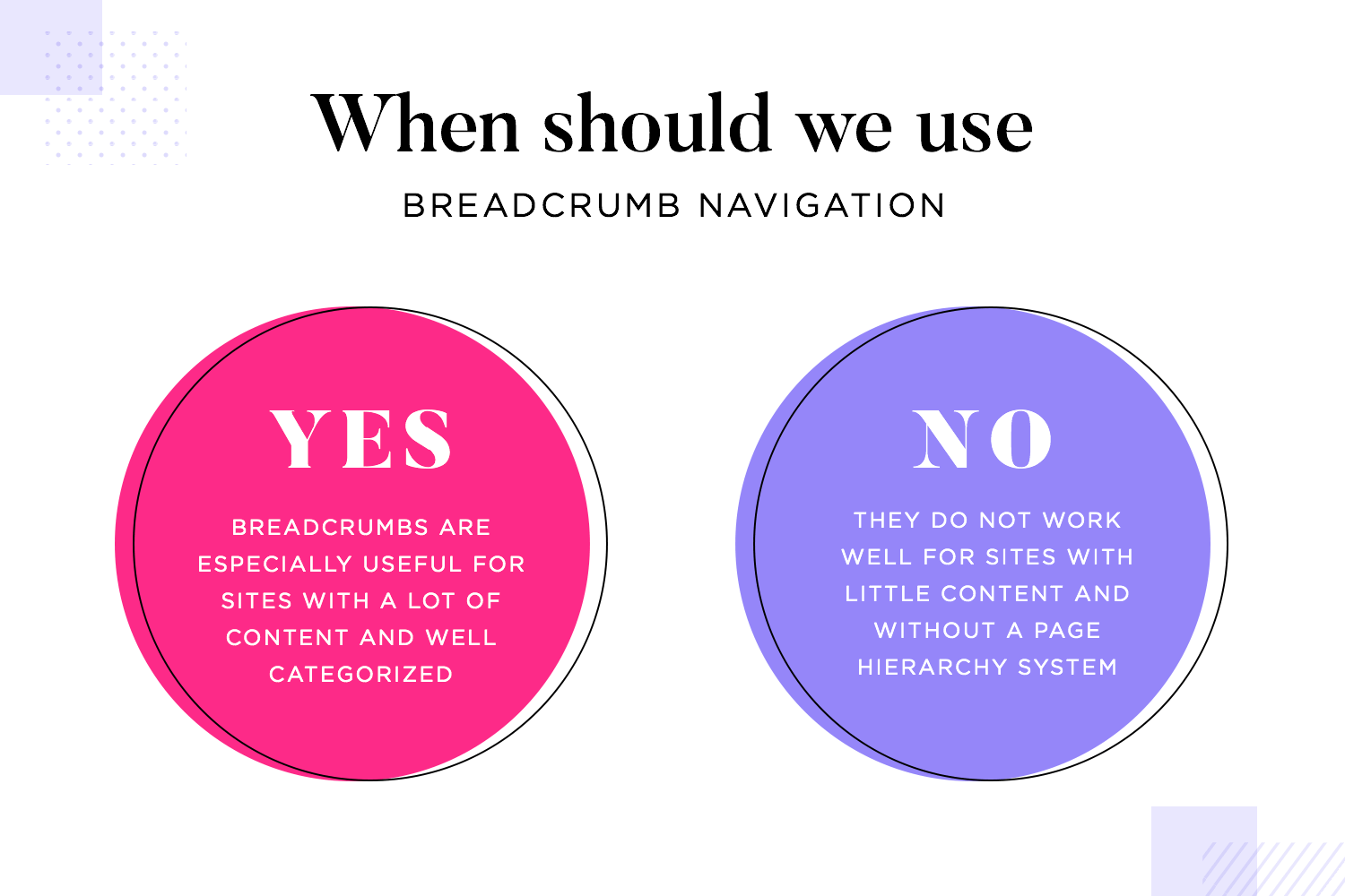 when to use breadcrumb navigation