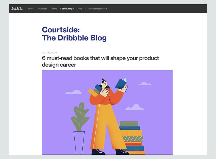 Graphic design blogs - Dribbble