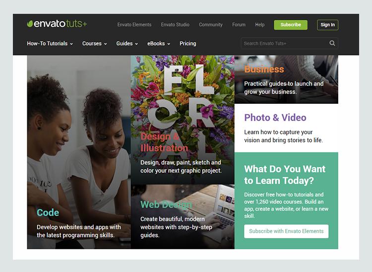 Graphic design blogs - Envato Tuts +