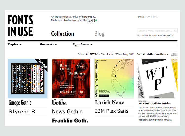 Graphic design blogs - Fonts In Use Blog