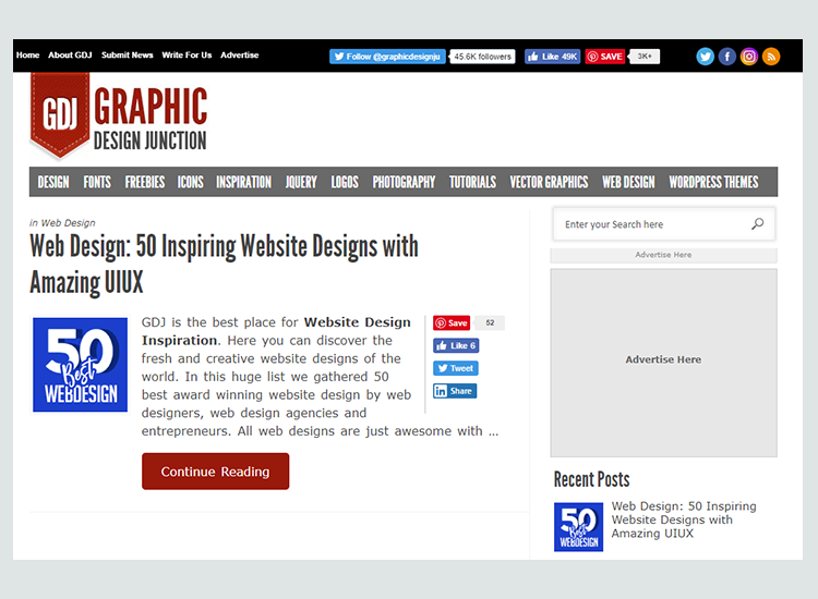 Graphic design blogs - Graphic Design Junction