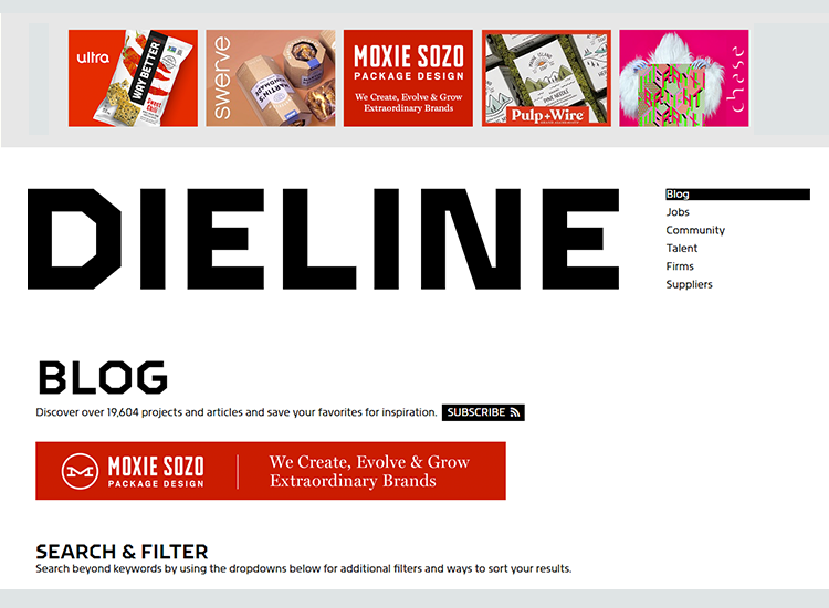 Graphic design blogs - The Dieline