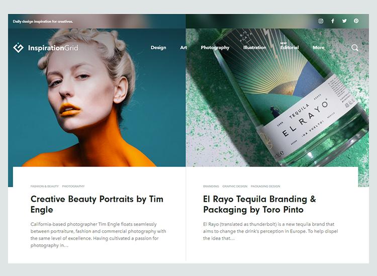 Graphic design blogs - The Inspiration Grid