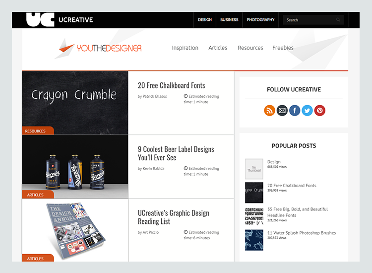 Graphic design blogs - UC Creative