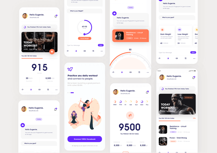 example of strong visuals in ux portfolio