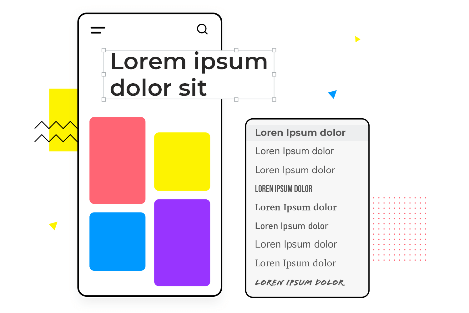Styles and fonts for your wireframes