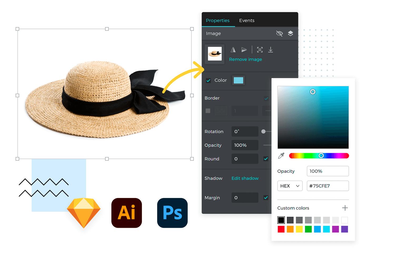 Visual design in website prototypes